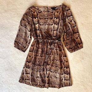 Snakeskin Print H&M Dress